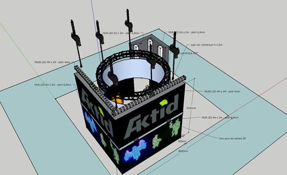 modelisation 3D ecran led
