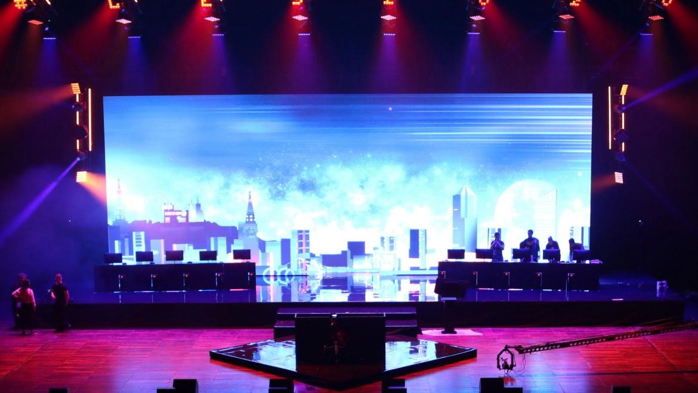 Installation d'un écran géant LED à la Lyon E-Sport