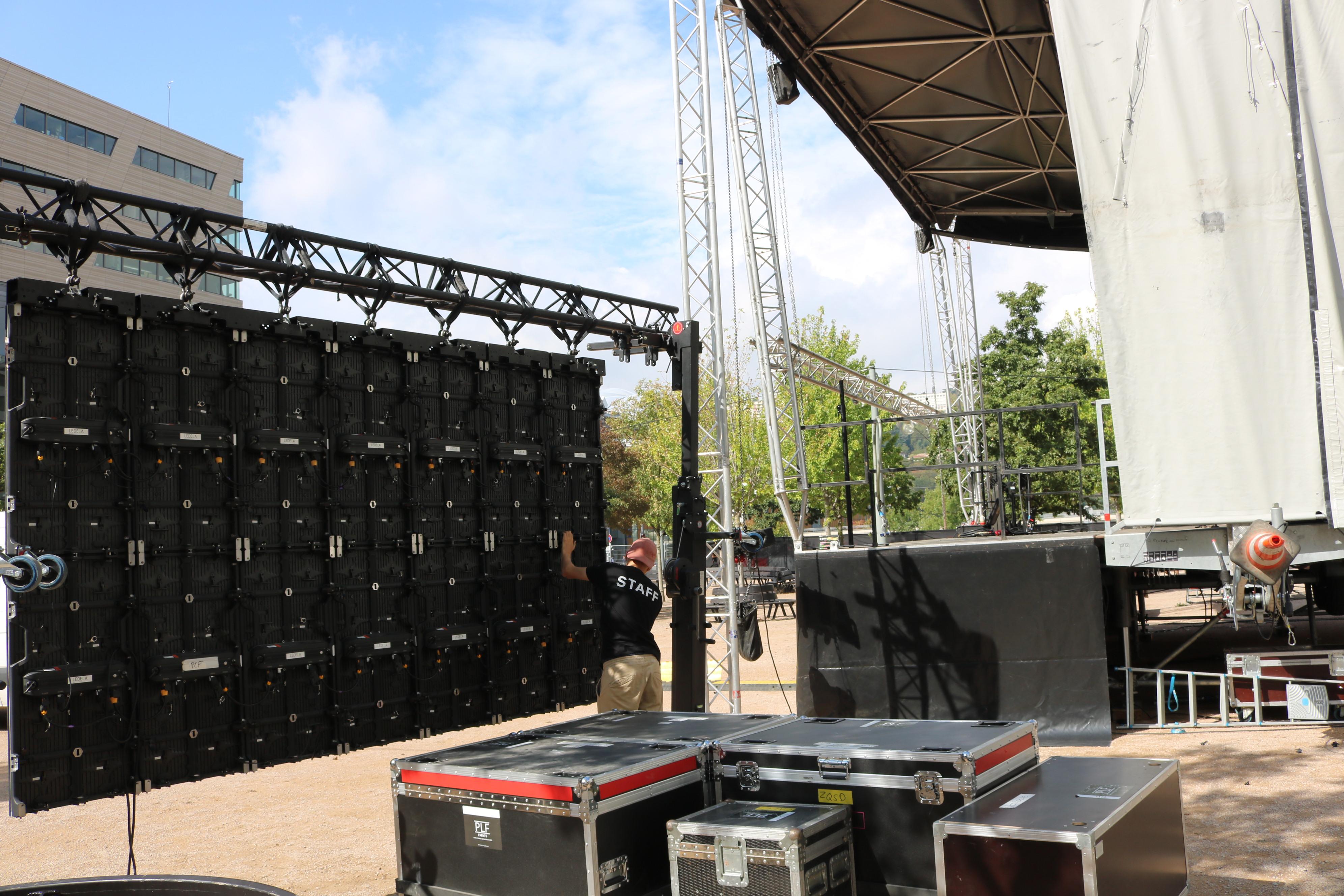 installation d'un écran led festival