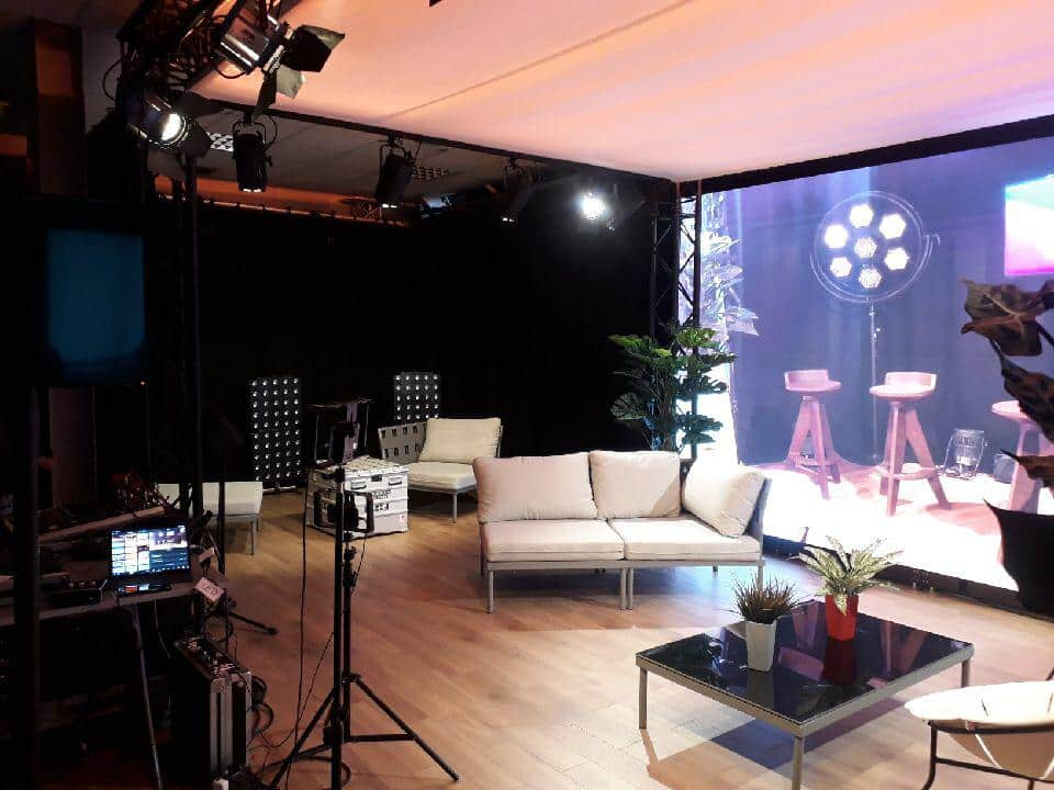 studio live streaming et écran led