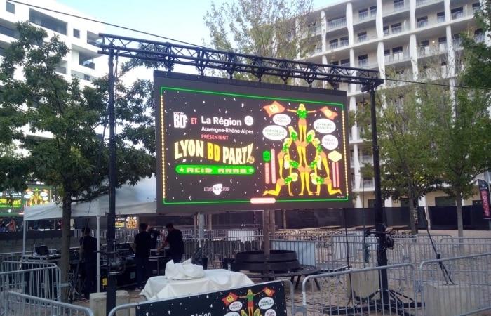 ecran led outdoor lyon bd festival
