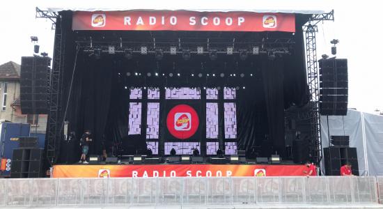 ecran geant led radio scoop